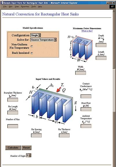 Natural Convection Modeling Of Heat Sinks Using Web Based Tools Electronics Cooling