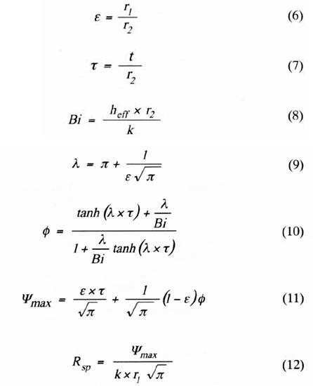 Simple Formulas For Estimating Thermal Spreading