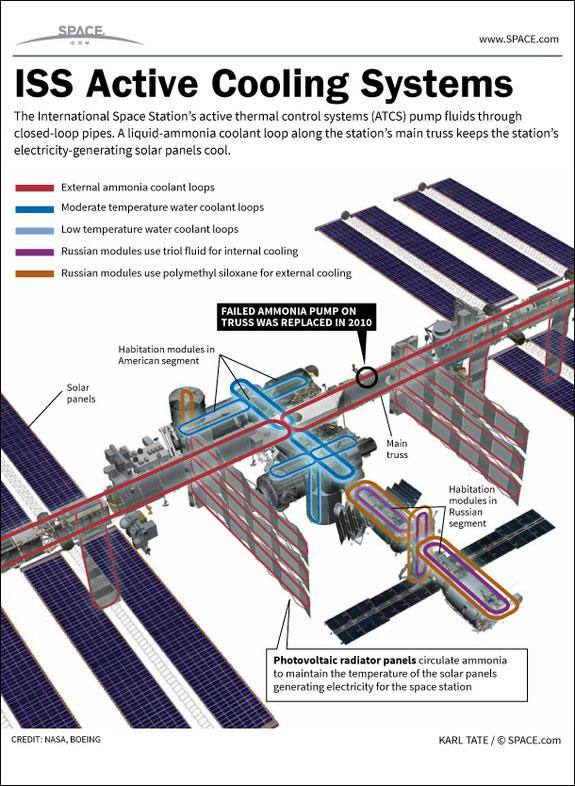 Astronauts Fix Ammonia Coolant Leak On International Space Station