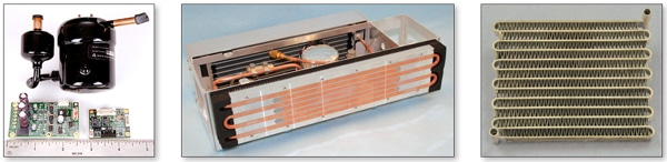 Figure 5. Components in a miniature refrigeration system.