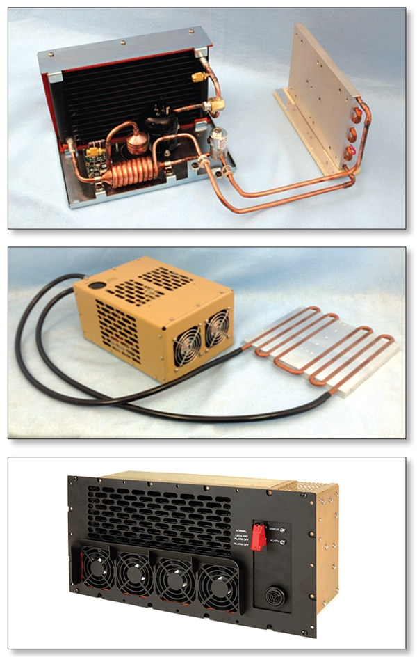 Figure 6. Direct, liquid and air cooling vapor compression systems.